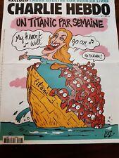 CHARLIE HEBDO 22 Avril 2015 - Numéro 1187 - Couverture LUZ - TITANIC Comme neuf