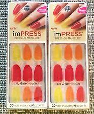 (2) Kiss Impress à Presser Manucure, Dix Différent Looks