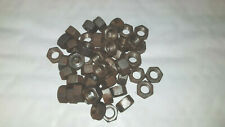 Bag of 50 x 3/8 UNC FULL STEEL NUTS SELF COLOUR MADE BY GKN FREE 1st Class