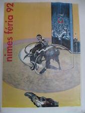 BACON FRANCIS  -   AFFICHE ORIGINALE DE LA FERIA DE NIMES 1992           TTB