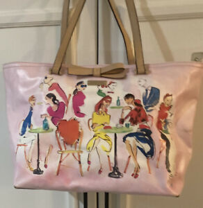 Kate Spade large pink tote Cafe Scene READ
