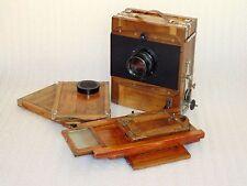 """SOVIET Vintage FKD 13x18 wooden camera Lens I-51 """"P"""" 1:4,5 F=21cm"""