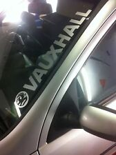 Vauxhall Window windscreen large Vinyl Sticker Graphic Corsa, astra, vectra