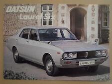 DATSUN LAUREL SIX orig 1976 UK Mkt Sales Leaflet Brochure
