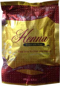 Original Hemani Henna Pulver Braun + Rose 150 gr Haare+Körper *Tattoo Kina Henne