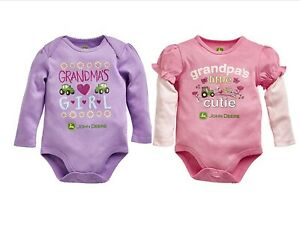NEW Grandma's Girl or Grandpa's Little Cutie Bodysuit Sizes 3/6. 6/9, 9/12 Month