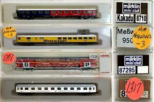 MARKLIN Z SCALE 4 COLLECTOR STREAMLINED Passenger Cars  Marklin Boxs C9