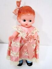 "Vintage 6"" Celluloid Knickerbocker Girl Doll Side Glance Eyes & Wedding Ring"