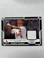 2008 Topps St. Louis Cardinals Albert Pujols Jersey Card