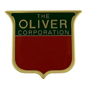 1M5232C Front Emblem with Brass Front for Oliver Tractor Super 44 55 66 77 88 99
