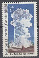 USA Briefmarke gestempelt 8c Old Faithful Yellowstone Park Rundstempel / 2738