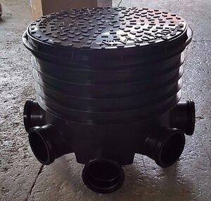 450mm Manhole Inspection Chamber Set 1x Lid 1x Base 1/2x Riser