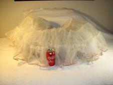 True vintage 50's crinoline circle petticoat 3 layers nylon organza, M