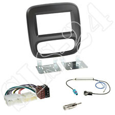 Opel Vivaro ab 2014 Doppel 2-DIN Einbaurahmen Radio Blende schwarz + ISO Adapter