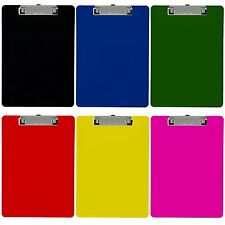 Plastic Clipboard Opaque Letter Size Low Profile Clip (Pack of 6) (Assorted)