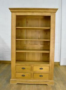 Oak Barker and Stonehouse large open bookcase - display shelving