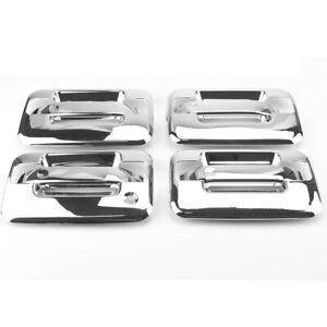4 Pcs Door Handle Cover Chrome Plated for Lincoln Mark LT Ford F150 Crew Cab