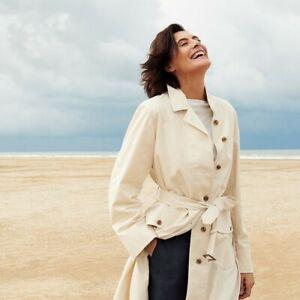 Ines de la Fressange Uniqlo Women's Long Coat Size Cotton Off White M NWT
