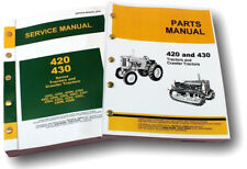 Service Manual Set For John Deere 420 Tractor Parts Catalog Repair Shop Book
