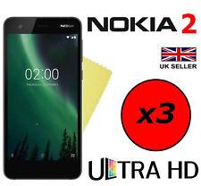3x HQ ULTRA TRANSPARENTES HD guardias de ahorro de películas protectoras de pantalla para NOKIA 2
