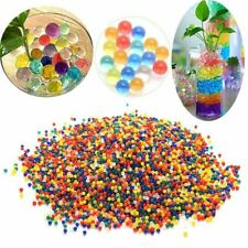 50g Rainbow Mix Round Gel Grow In Water Jelly Beads Gel Balls Crystal Soil Va...