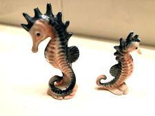 Vintage~Sea  00006000 Horse Family~ceramic Aquarium Tank Decor~collection Set figurines