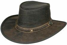 Australian Cowhide leather hat - KANGAROO Style SUNDOWNER westren aussie cowboy