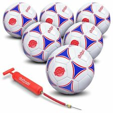 GoSports Premier Soccer Ball with Premium Pump 6 Pack, Size 3
