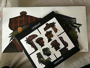 """GORILLAZ VINYL demon days LP x2 NEW """"SEALED"""" VMP RED COLOR stickers HALF SPEED"""