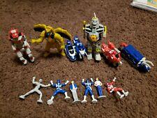 Vintage Micro Machines Power Rangers Mini Action Figure Lot Of 12 (Bandai, MMPR)