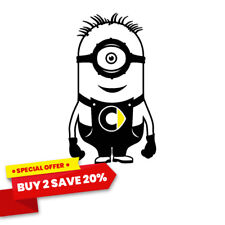 Smart Car Fortwo, Forfour, Roadster Minion Vinyl Decal Sticker With Smart Logo