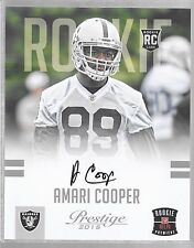 2015 Prestige - AMARI COOPER - Autograph 8x10 Rookie - RAIDERS (Redeemed)