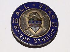 1951 MLB All-Star Game Press Pin Briggs Stadium Detroit