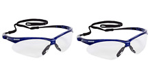 KleenGuard 47384 V30 Nemesis Safety Glasses With Blue Frame and Anti-fog Lens