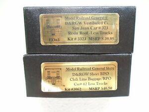 General Store Models HOn3 D&RGW Passenger Car kits(2)