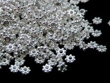 80 Pcs -  5mm Silver Plated Daisy Flower Spacer Beads Flowers Jewellery A92
