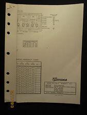 Thomas Organ Models OH-1 OH-3 Schematic Diagram No. 1 Factory OEM