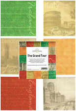 TRAVEL/VACATION CRAFTS HOUSE 6 X 6 LONDON/IRELAND/ITALY PEARL PAPERS - 36 SHEETS