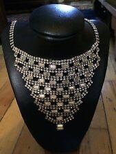 VERY RARE '1950 crystal rhinestone book masterpiece Sherman necklace