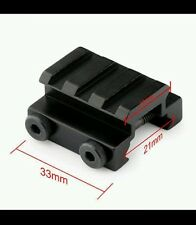 Black 3 Slot 1/2 Inch Mini Riser Flat Top Picatinny Rail Sight Scope Block Mount