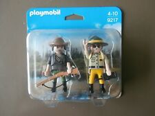 DUO PACK PLAYMOBIL Réf 9217 & GARDE FORESTIER + BRACONNIER NEUF
