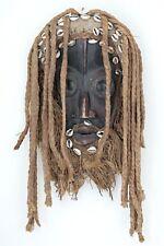 African Tribal mask with Dreadlocks - Shells