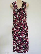 Table Eight - New With Tags - Geometric Print Tie Front Dress - Size 8