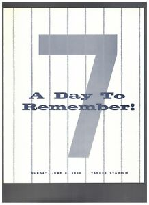 MICKEY MANTLE DAY @ YANKEE STADIUM JUNE 8TH 1969 RECORD & FOLD OUT TRIBUTE!
