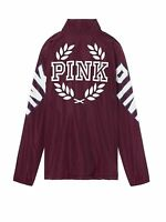 Victoria's Secret Pink Sherpa Bomber Jacket Snap Buttons Black Orchid NWT XSmall