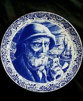 Vintage Boch La Louviere Delfts Belgium ceramic plate