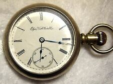 ELGIN POCKET WATCH  - Nat'l Watch Co. 15 Jwls - 1890 - FAHYS ORESILVER CASE