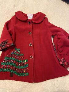 Baby Girl's Christmas Coat w/Hat SZ 18M NWT Bonnie Baby Bonnie Jean ORIG $44