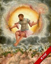 MARS ROMAN GOD OF WAR RULING FROM ABOVE PAINTING ART REAL CANVAS GICLEE PRINT