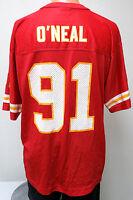 vtg LESLIE O'NEAL #91 Starter KC Chiefs Jersey 48/L nfl Kansas City 90s red 1998